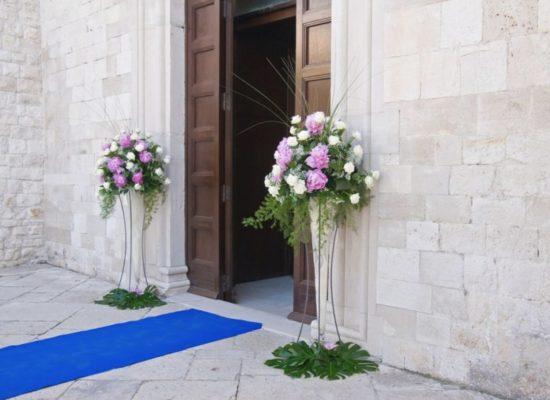 große Vasen Blumen Hochzeit und Kirche mieten