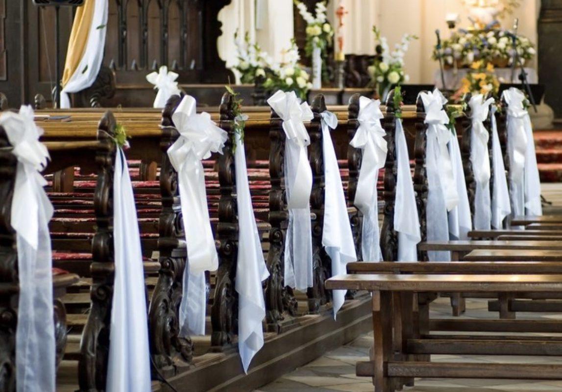 Kirchbank schleifen deko für die Kirche Wiesbaden bester dekoservice Bewertungen