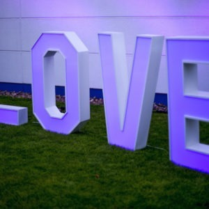 love buchstaben für Hochzeit in verschiedenen färben mieten