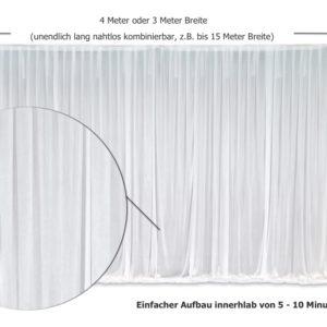 Abdeckstoff Hintergrund als Rückwand für Hochzeit mieten um Stellen zu bedecken und deko leihen stasevents Ausschnitt Details