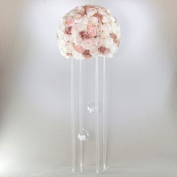 Blumenständer Cubos Acryl Transparent eckig für BLumen mieten als Hochzeitsdeko in durchstig für Dekoration leihen 1
