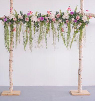 hochzeitbogen Rosenbogen Blumen mieten freie Trauung Dekoration