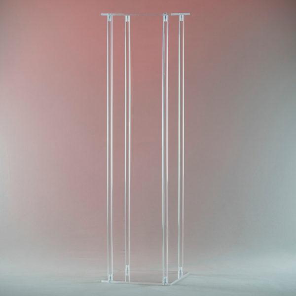 Cubos Blumenständer aus Glas Acryl transparent für Blumen als Centerpiece Deko Verleih von Tischdeko für Hochzeit und Event2