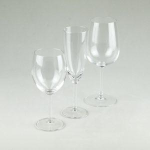 Glas Set für Hochzeit und Event mieten mit Weinglas, Sektglas, Wasserglas, Schnaps und Whiskey Glas Verleih 3