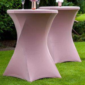 Stehtisch Hussen stehtischhussen mieten und leihen für hochzeit garten party günstig sunnydeko weiß rosa altrosa pastell anthrazit 1