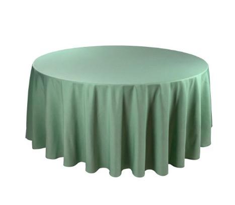 Tischdecke tisch decke wäsche tischwäsche mieten rund runde für hochzeit runde tischdecke leihen verleih reinigung günstig billig sunnydeko farbe grün mint