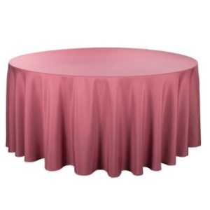 Tischdecke tisch decke wäsche tischwäsche mieten rund runde für hochzeit runde tischdecke leihen verleih reinigung günstig billig sunnydeko farbe rose rosa