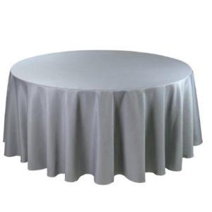 Tischdecke tisch decke wäsche tischwäsche mieten rund runde für hochzeit runde tischdecke leihen verleih reinigung günstig billig sunnydeko farbe grau grey