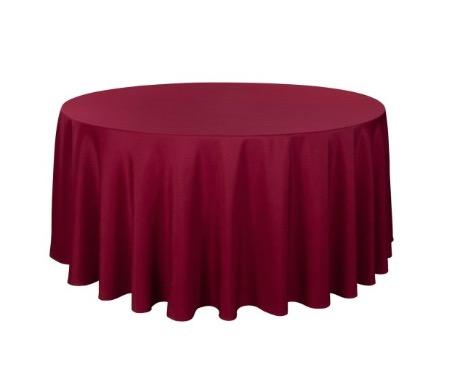 Tischdecke tisch decke wäsche tischwäsche mieten rund runde für hochzeit runde tischdecke leihen verleih reinigung günstig billig sunnydeko farbe bordeaux