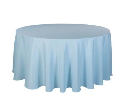 Tischdecke tisch decke wäsche tischwäsche mieten rund runde für hochzeit runde tischdecke leihen verleih reinigung günstig billig sunnydeko farbe hell blau