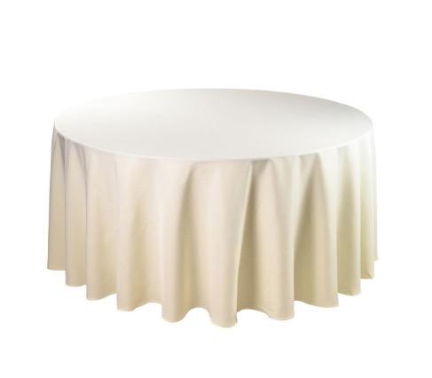 Tischdecke tisch decke wäsche tischwäsche mieten rund runde für hochzeit runde tischdecke leihen verleih reinigung günstig billig sunnydeko farbe ivory creme champagner