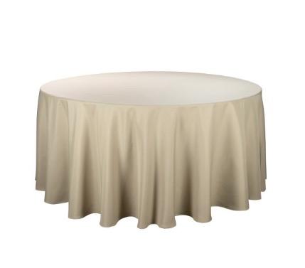 Tischdecke tisch decke wäsche tischwäsche mieten rund runde für hochzeit runde tischdecke leihen verleih reinigung günstig billig sunnydeko farbe cappucino