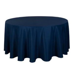 Tischdecke tisch decke wäsche tischwäsche mieten rund runde für hochzeit runde tischdecke leihen verleih reinigung günstig billig sunnydeko farbe navy blue königsblau