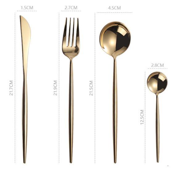 besteck Gabel Messer Löffel mieten hochzeit modern gold kupfer rosé altrosa Bronze schwarz günstig billig deko stasevents