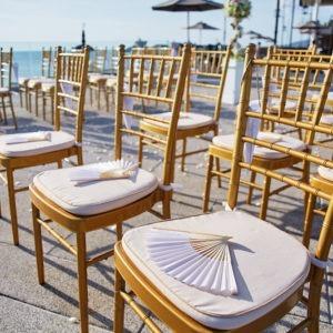 gold mit Sitzkissen tiffany Stuhl chiavari mieten für hochzeit