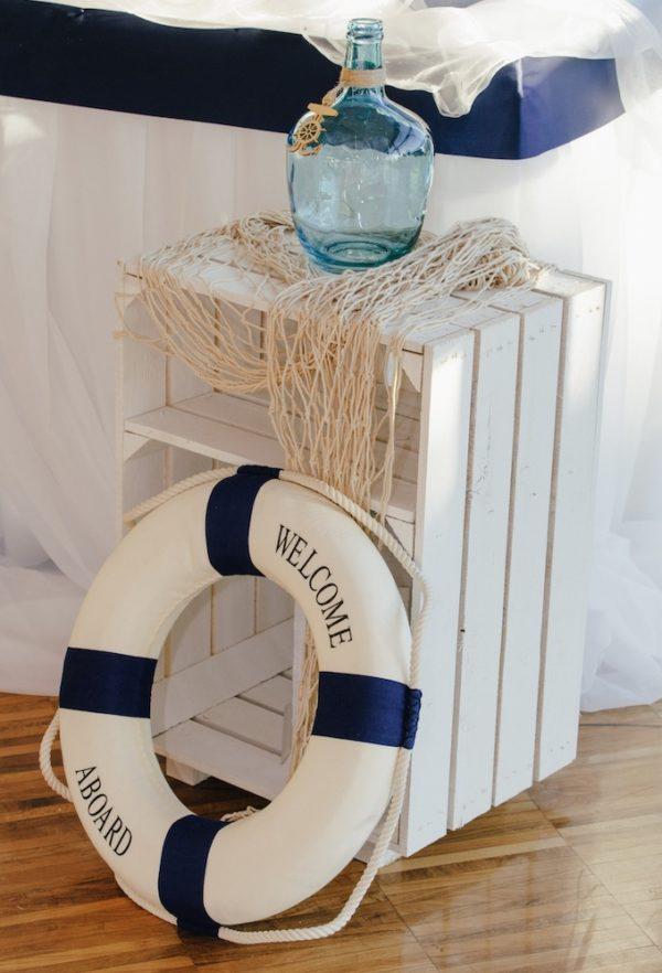 dekoration hochzeit Meer See maritim blau weiss Hochzeit mieten