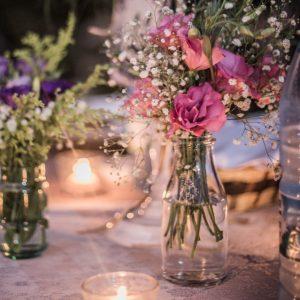 Gläser (Blumen & Kerzen)