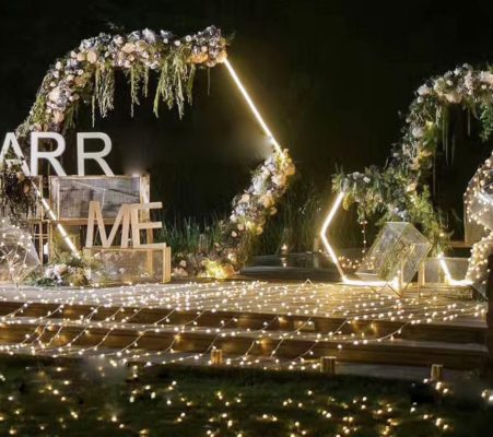 traubogen Hochzeitsbogen Rosenbogen mit Beleuchtung Led hochzeit dekoration deko blumen mieten