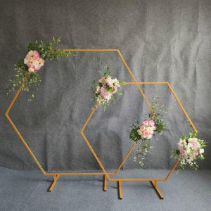 traubogen Hochzeitsbogen Rosenbogen mit Beleuchtung Led hochzeit dekoration deko blumen mieten hexagon