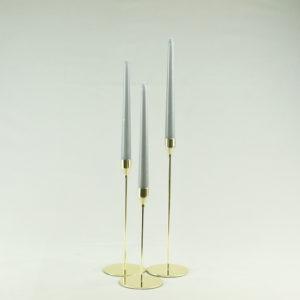 kerzenständer in gold gelb für hochzeit mieten und leihen stab ein stil 1-armig dezent und elegant verleih von tischdeko stasevents