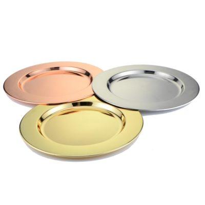 Platzteller platz Teller Unterteller unter Teller hochzeit mieten leihen billig günstig gold rosa rose-gold kupfer silber stasevents