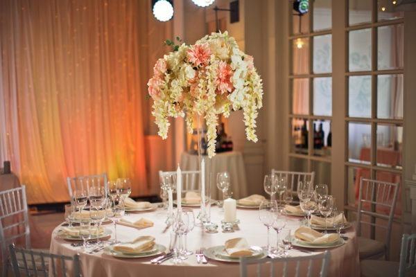 tischdeko für hochzeit mieten kerzenständer vase