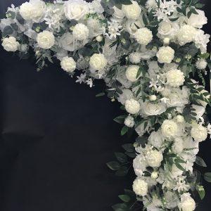 stasevents blumen gesteck traubogen trau blumengesteck kunstblumen mieten günstig hochzeit leihen dekoration weiss