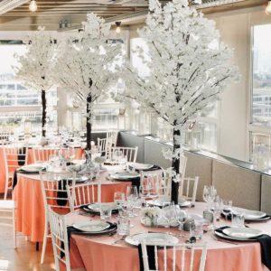 Tischdeko und Dekoration mieten und leihen für eure Hochzeit als Hochzeitsdeko beim Dekoverleih NRW und Hessen rosa cherry bäume blossom kirschblütenbaum 18