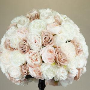 blumen deko kunstblumen strauß bouquet für hochzeit leihen und mieten altrosa pastell stasevents2