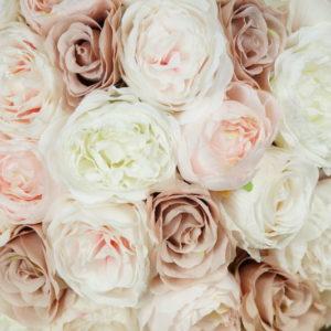 blumen deko kunstblumen strauß bouquet für hochzeit leihen und mieten altrosa pastell stasevents3