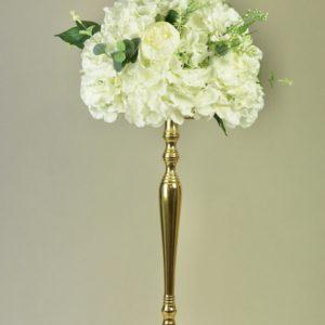 gold strauß blumenständer 1 arm blumen ständer halter mieten hochzeit deko dekoration hochzeitsdeko verleih leihen stasevents