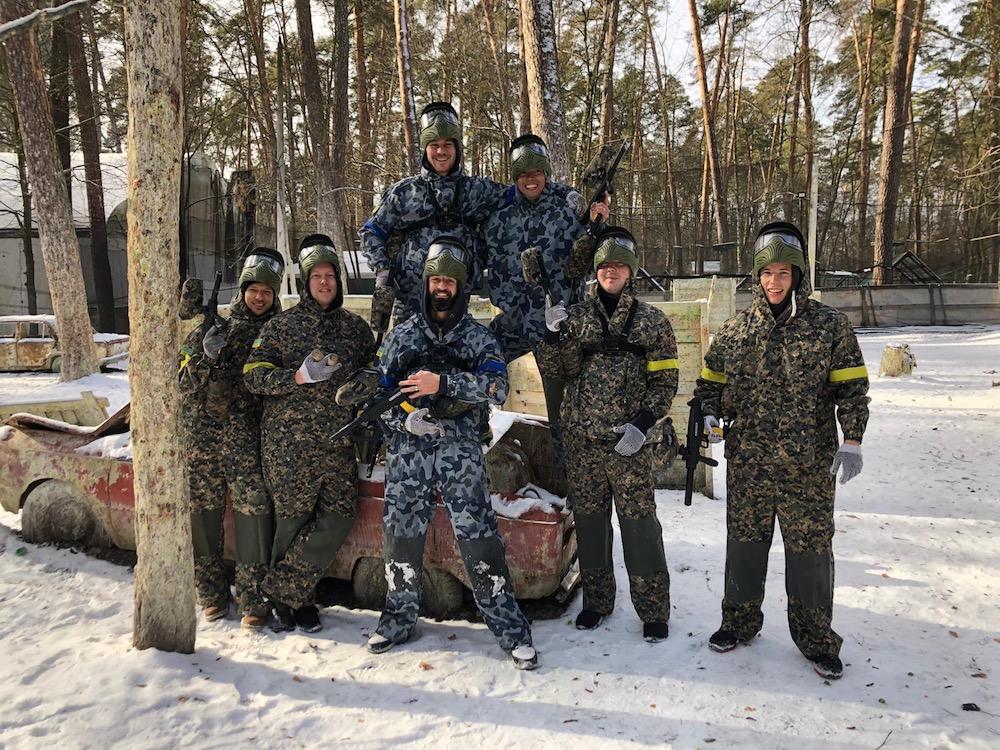 kiev states crazy Kiew party stag jga crew states paintball bachelor gotcha