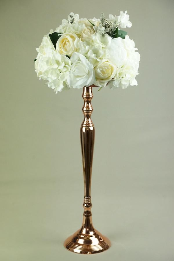 rosegold rose gold kupfer blumenständer 1 arm blumen ständer halter mieten hochzeit deko dekoration hochzeitsdeko verleih leihen12
