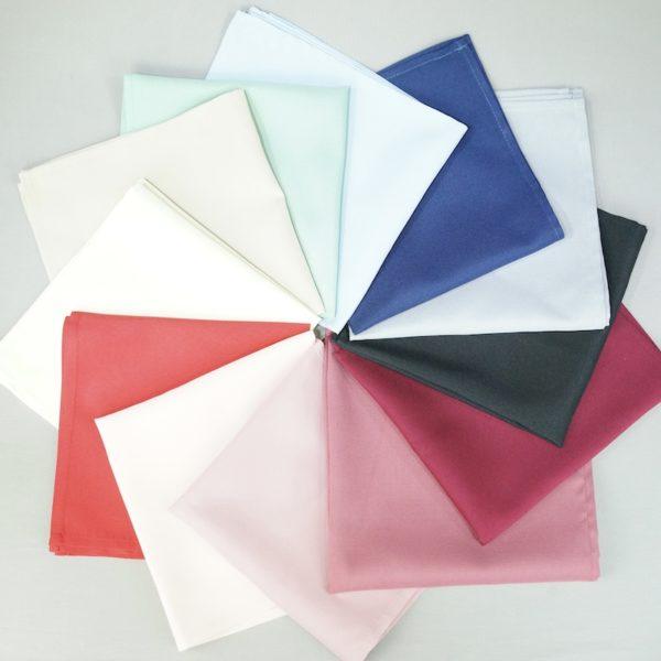 Farbige Servietten verschiedene Farben für Hochzeit leihen und mieten Stoffservietten Rosa Tiffany Powder Puder StasEvents 1