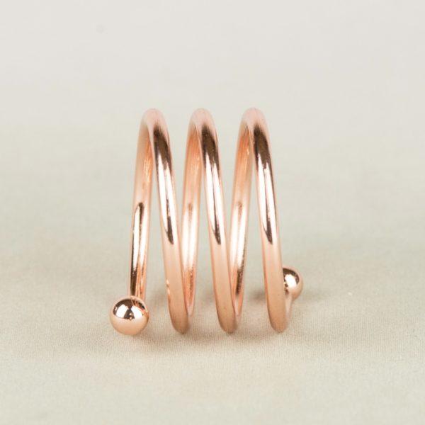 Servietten Ring Stoffserviette Ringe Kupfer rose rosegold silber gold zum Leihen im Deko Verleih und Hochzeitsdeko mieten glänzend 1