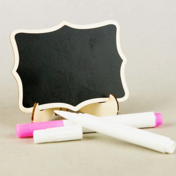 Tisch Nummer Ständer und Halter Tafel zum selbst beschreiben für Hochzeit mieten Verleih 2