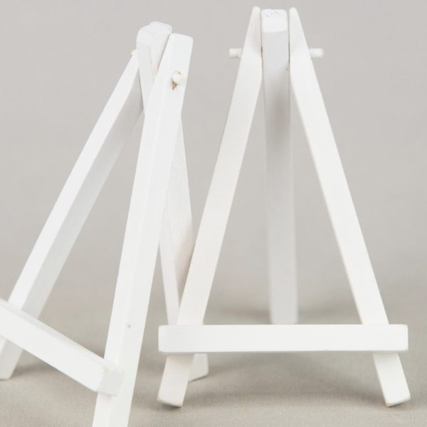 Tischnummer Halter Staffelei Echt Holz Vintage Look Verleih leihen Dekoration Weiss Mieten 1