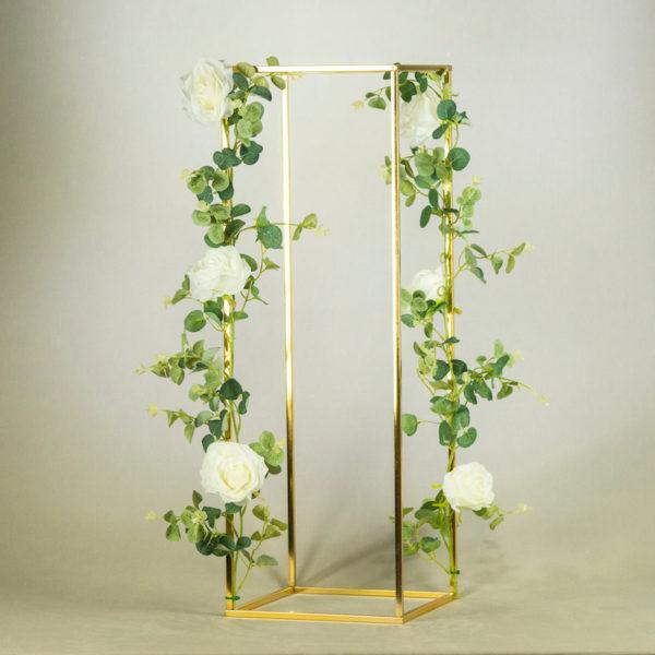 cube cubos gold ständer für blumen hochzeit modern eckig geo geometrisch mieten und leihen hochzeit dekoration