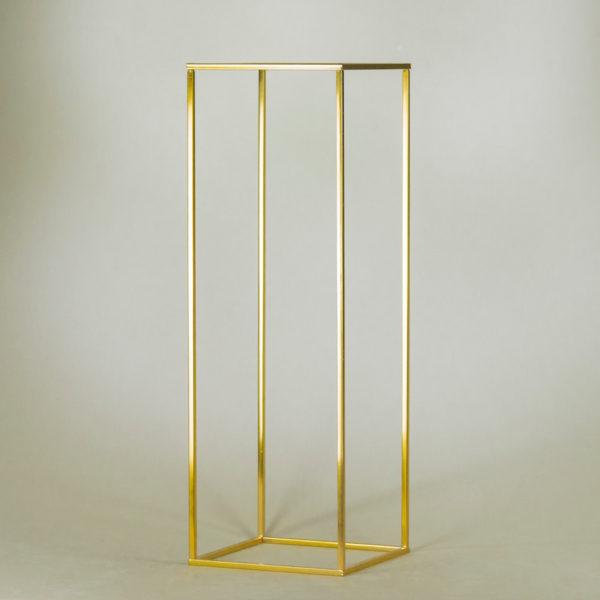 cubos gold 80cm cube vase blumenständer eckig