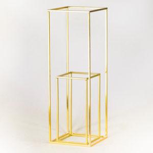 cubos gold geometrisch geo blumenständer ständer hochzeitsdeko verleih dekoration