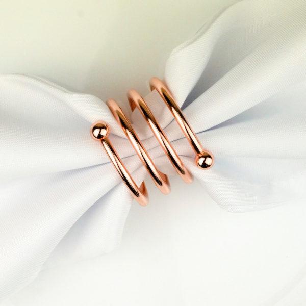 serviettenring spirale silber hochzeitsdeko