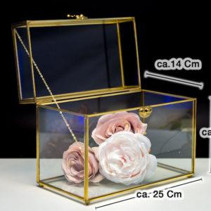 Geschenkebox box shatulle für geschenke hochzeit hochzeitsdeko glas durchsichtig gold acryl mieten und leihen deko sunny sunnydeko3