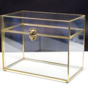 Geschenkebox box shatulle für geschenke hochzeit hochzeitsdeko glas durchsichtig gold acryl mieten und leihen deko sunny sunnydeko1