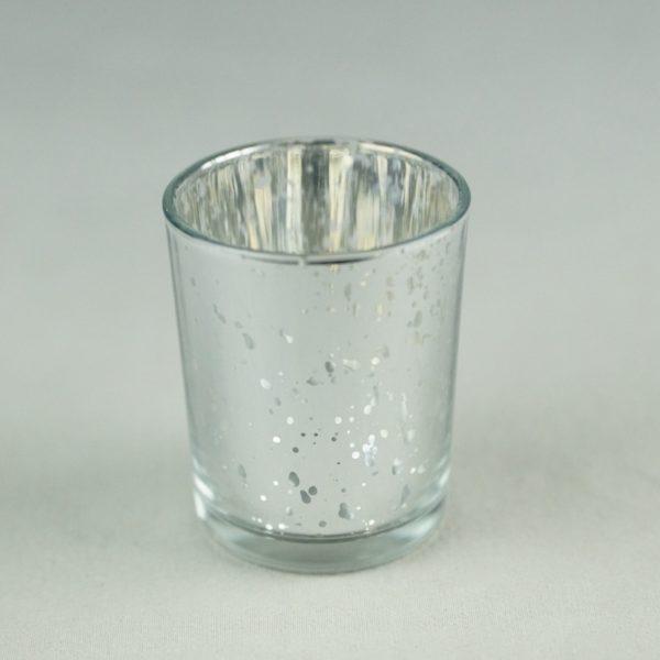 Teelichtglas Molly für Hochzeit mieten als Tischdeko Verleih von Dekoration von StasEvents