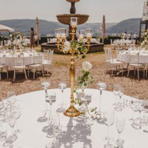 goldener kerzenständer für hochzeit mieten mit 5 armig gold hochzeitsdeko leihen la deko sunnydeko wiesbaden