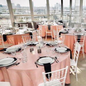 Tischdeko Tischdecken Tischwäsche und Dekoration mieten und leihen für eure Hochzeit als Hochzeitsdeko beim Dekoverleih NRW und Hessen rosa cherry bäume blossom kirschblütenbaum 13