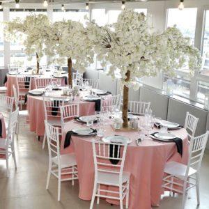 Tischdeko und Dekoration mieten und leihen für eure Hochzeit als Hochzeitsdeko beim Dekoverleih NRW und Hessen rosa cherry bäume blossom kirschblütenbaum 1
