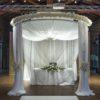 runder traupavillon pavillon hochzeitspavillon traubogen sunnydeko mieten freie trauung leihen hochzeit chiffon wedding blumen blumengesteck rosenbogen