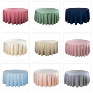 tischdecke rund verschiedene farben