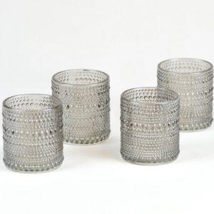 Blackyvin Whityvin Teelicht Glas BLumenglas Tischdeko für Hochzeit mieten beim Dekoverleih Stasevents aus Frankfurt Dekoration leihen 1